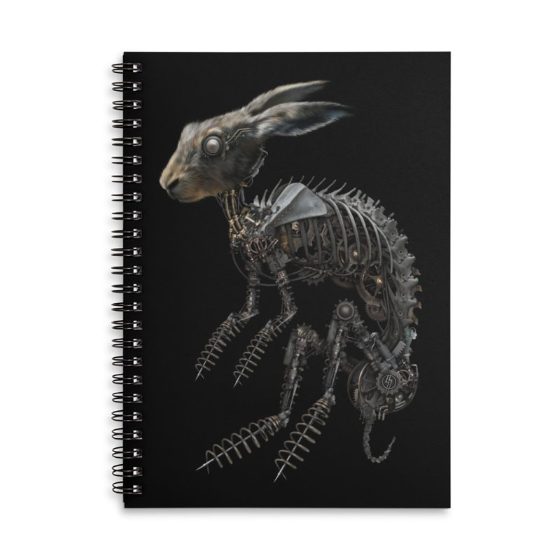 SPRING HARE in Lined Spiral Notebook by