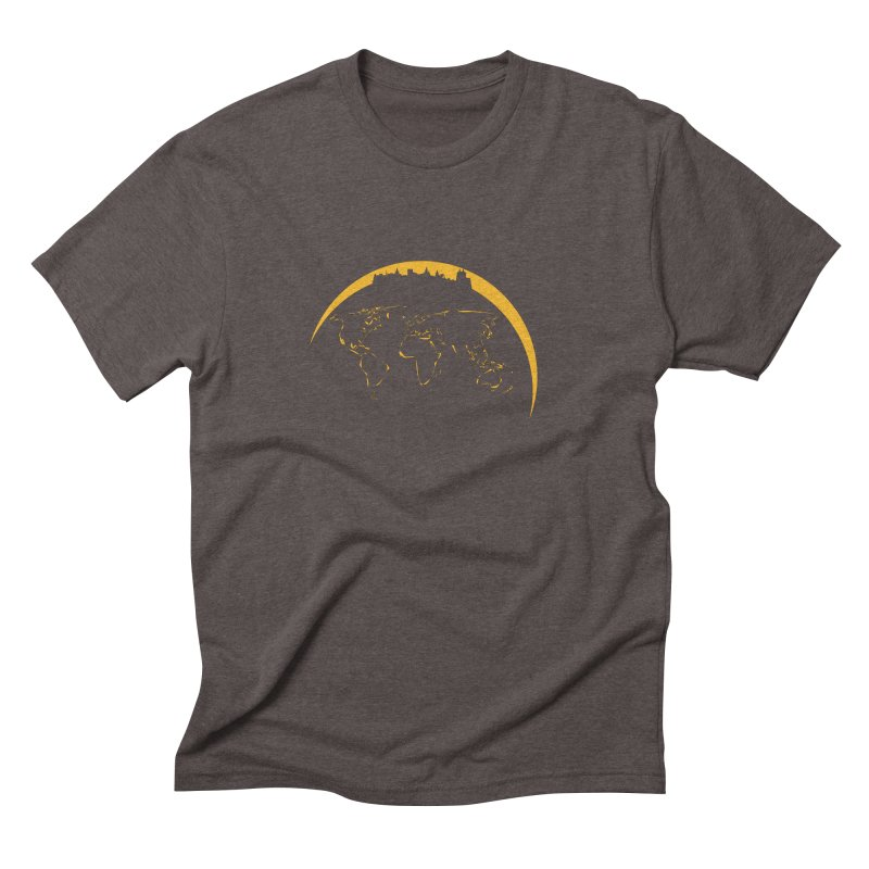 World Skyline Men's Triblend T-Shirt by Mişto Design Shop