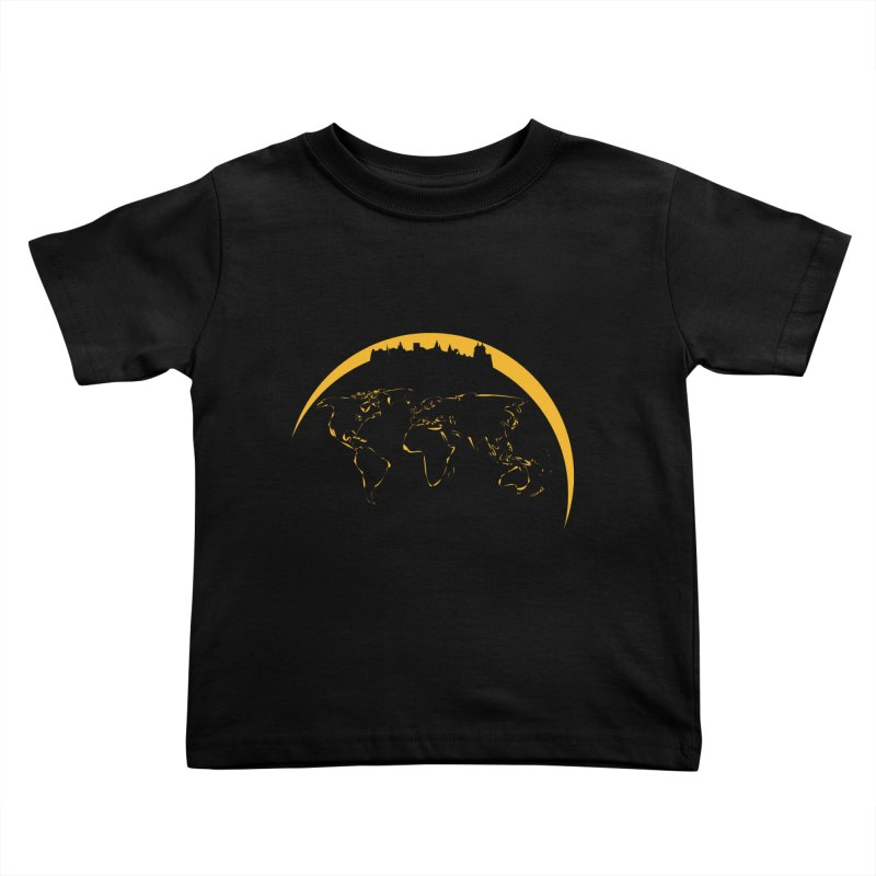 World Skyline Kids Toddler T-Shirt by Mişto Design Shop