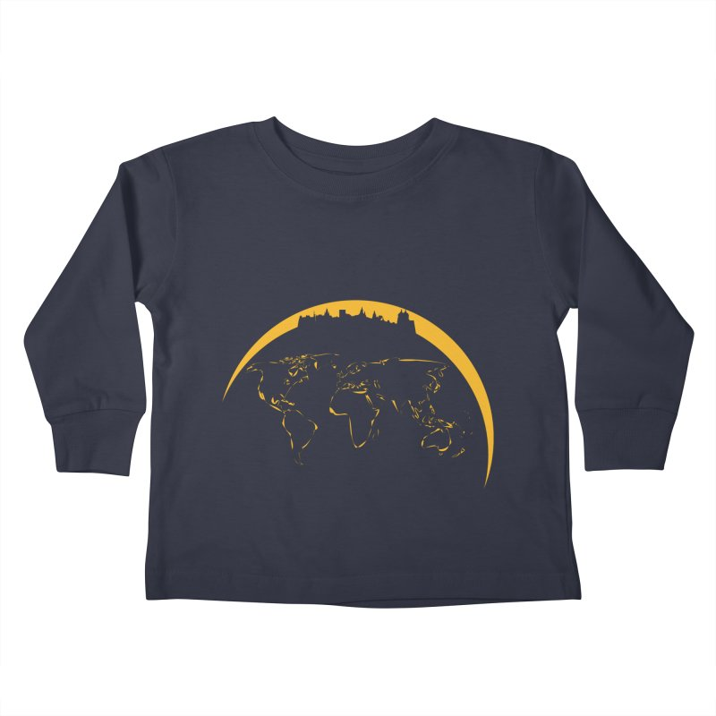 World Skyline Kids Toddler Longsleeve T-Shirt by Mişto Design Shop