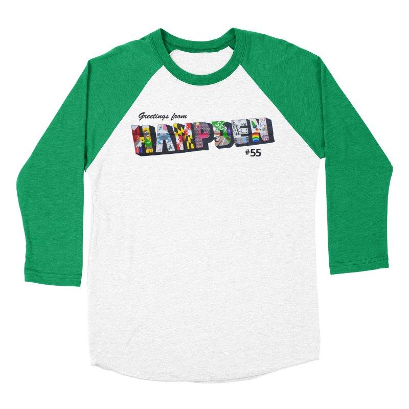 Hampden 55 Women's Baseball Triblend Longsleeve T-Shirt by FOH55