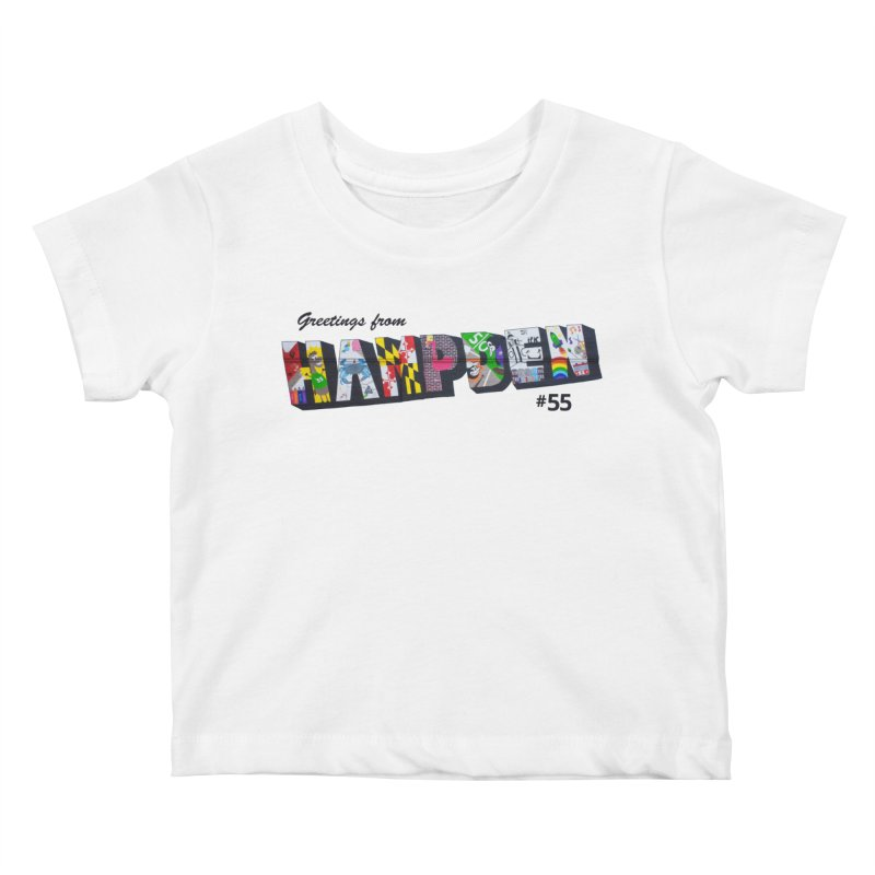 Hampden 55 Kids Baby T-Shirt by FOH55