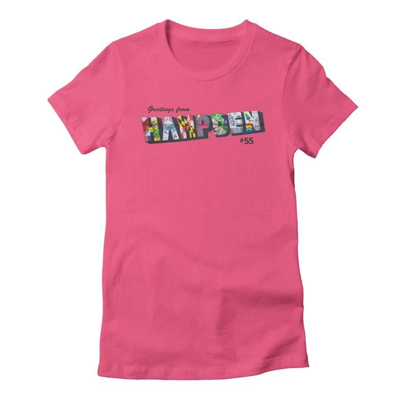 Hampden 55 Women's Fitted T-Shirt by FOH55