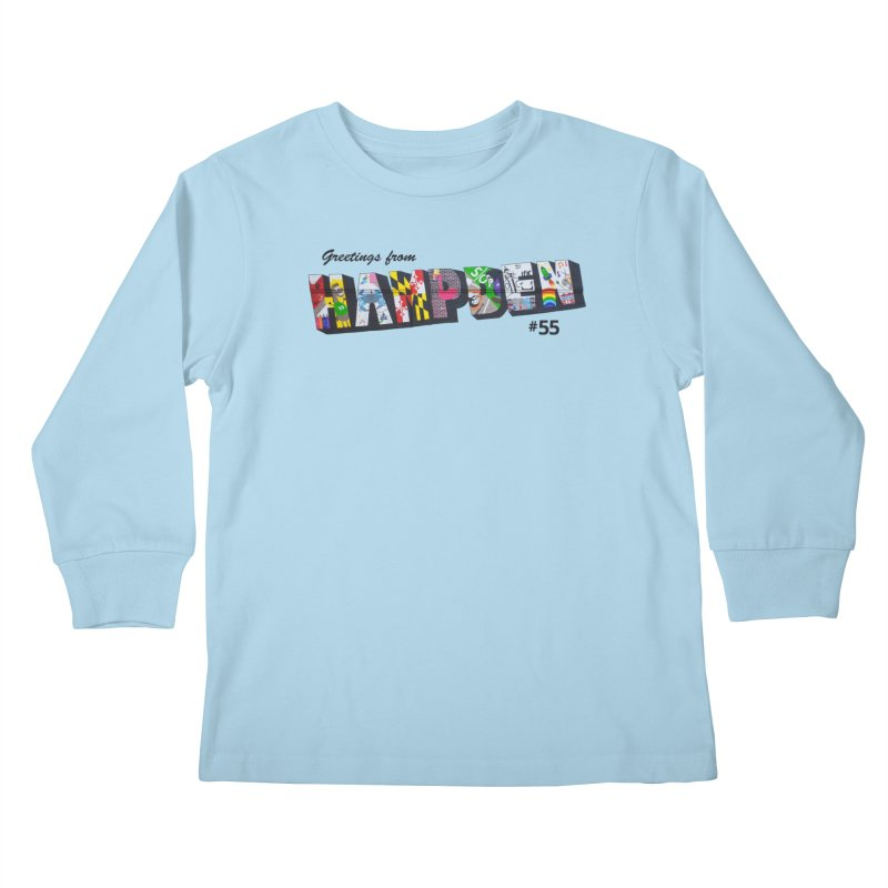 Hampden 55 Kids Longsleeve T-Shirt by FOH55