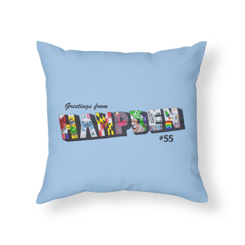 Hampden 55 Home Throw Pillow by FOH55