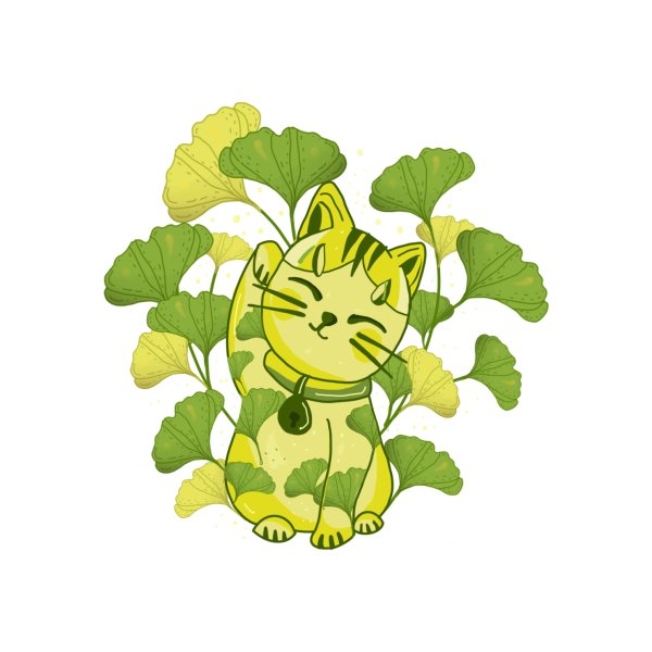 Design for Ginkgo biloba  neko