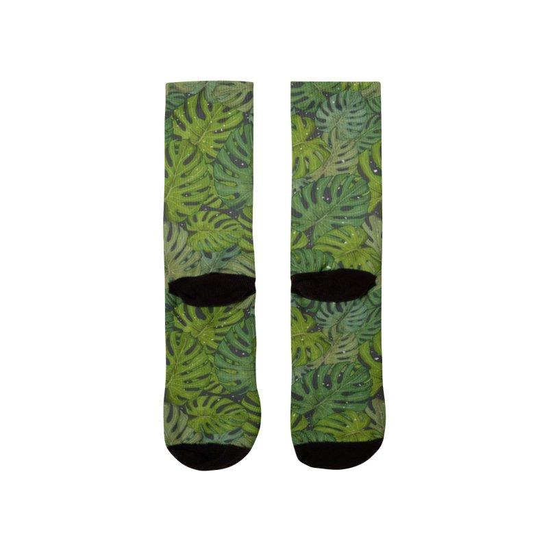 Monstera Paradise Men's Socks by Mitalim's Artist Shop