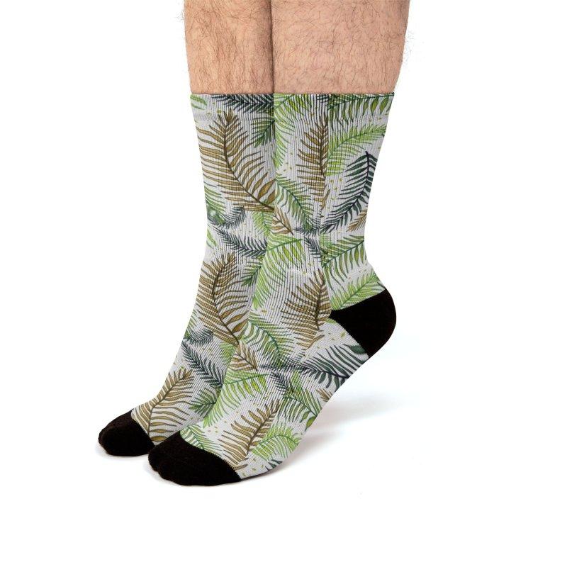 Leaves Men's Socks by Mitalim's Artist Shop