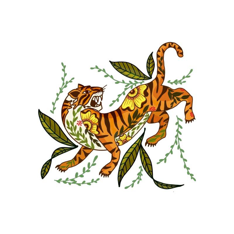 Tiger the Warrior Women's T-Shirt by Mitalim's Artist Shop
