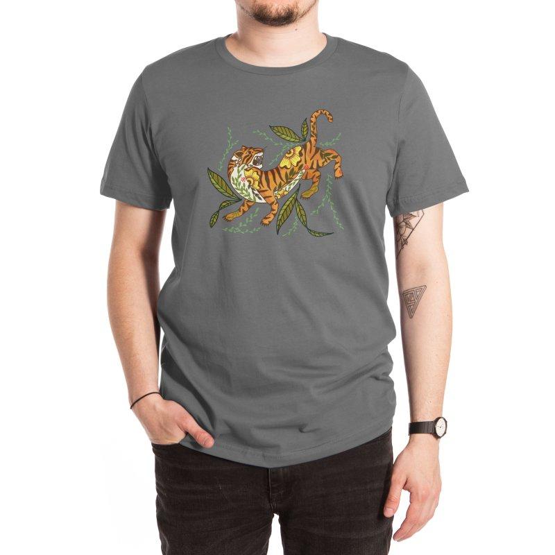 Tiger the Warrior Men's T-Shirt by Mitalim's Artist Shop