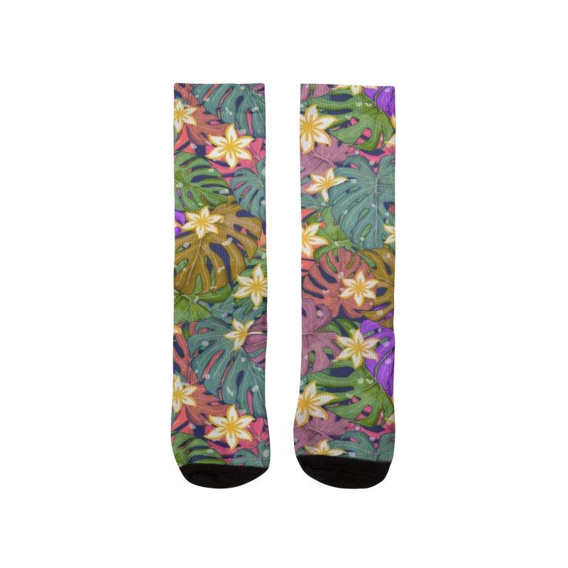 Monstera Tropical Colours Men's Socks by Mitalim's Artist Shop