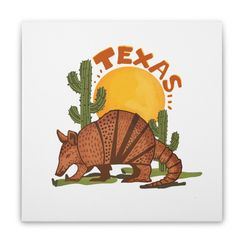 Texas Armadillo Home Stretched Canvas by Mitalim's Artist Shop