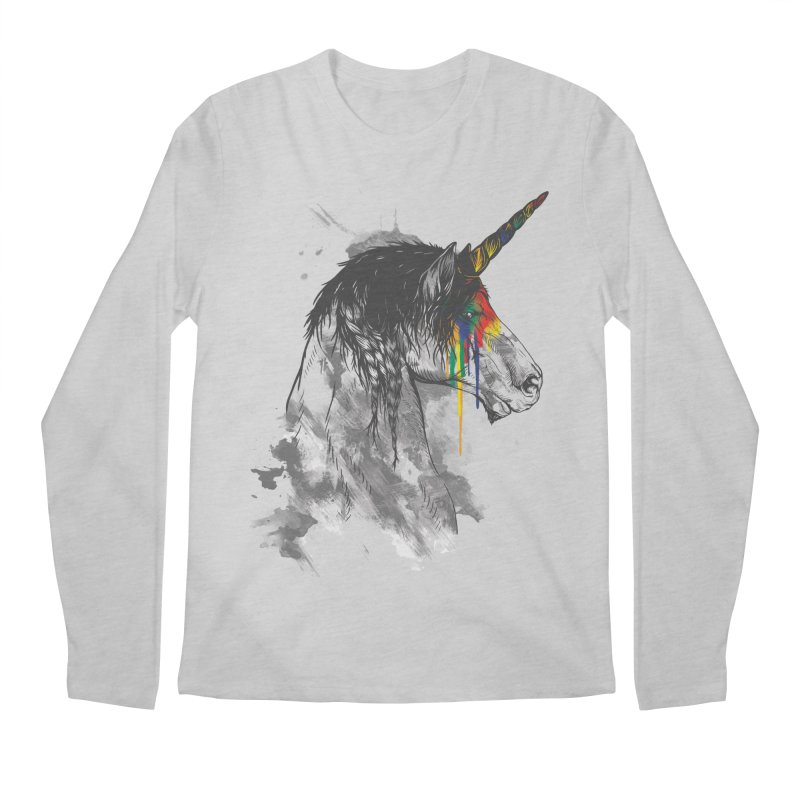 Braided Unicorn Men's Longsleeve T-Shirt by mitchdosdos's Shop
