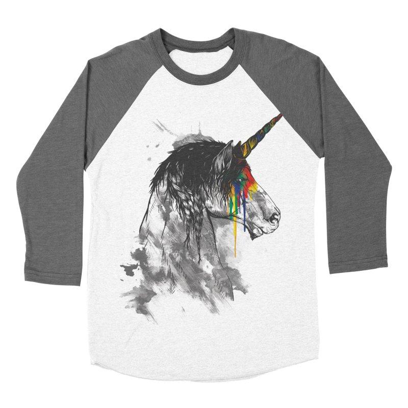 Braided Unicorn Women's Baseball Triblend T-Shirt by mitchdosdos's Shop