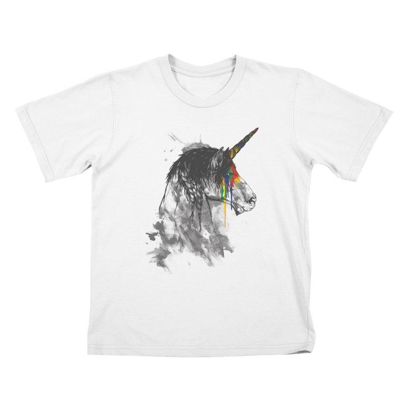 Braided Unicorn Kids T-shirt by mitchdosdos's Shop
