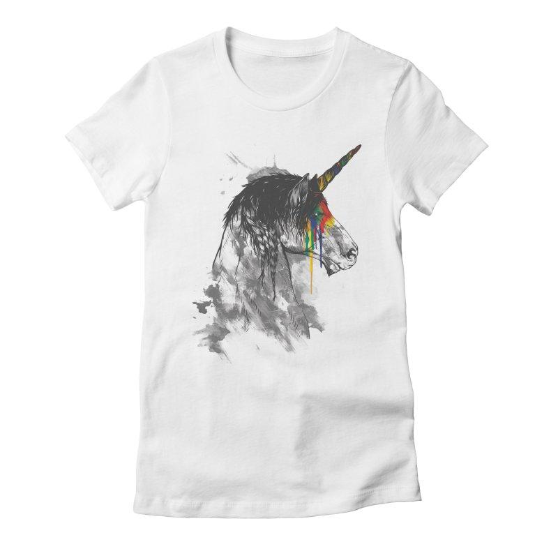 Braided Unicorn Women's Fitted T-Shirt by mitchdosdos's Shop