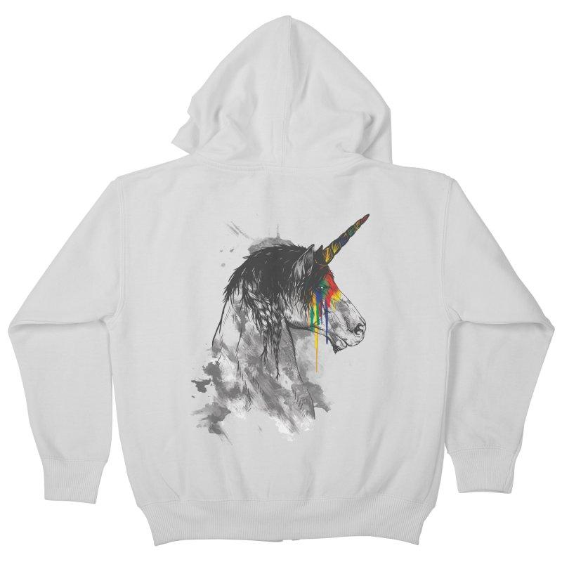 Braided Unicorn Kids Zip-Up Hoody by mitchdosdos's Shop