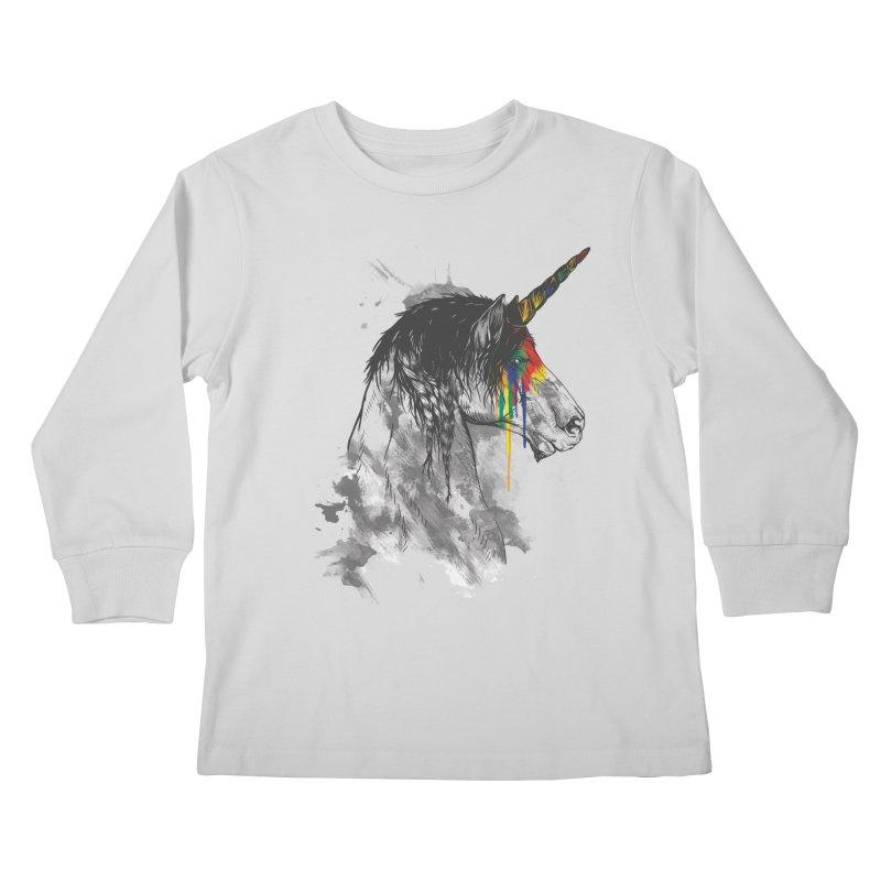 Braided Unicorn Kids Longsleeve T-Shirt by mitchdosdos's Shop