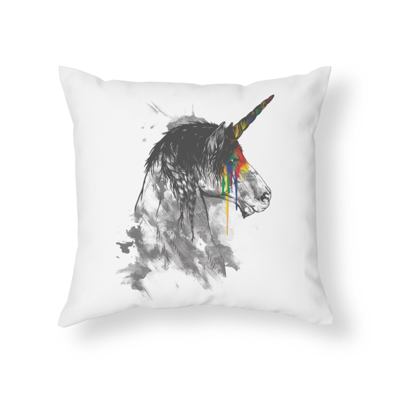 Braided Unicorn Home Throw Pillow by mitchdosdos's Shop