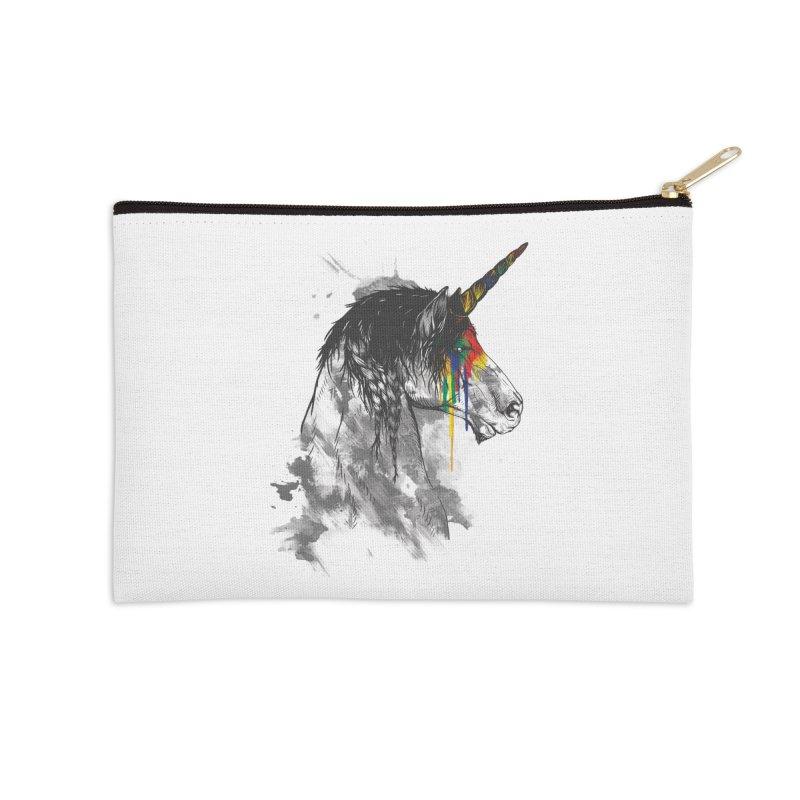 Braided Unicorn Accessories Zip Pouch by mitchdosdos's Shop
