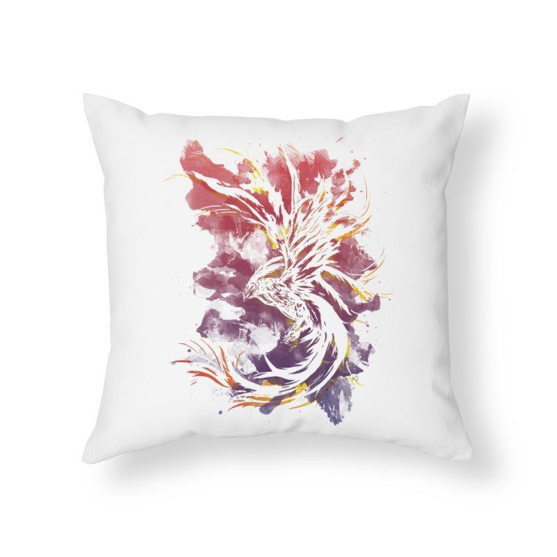 Phoenix Home Throw Pillow by mitchdosdos's Shop