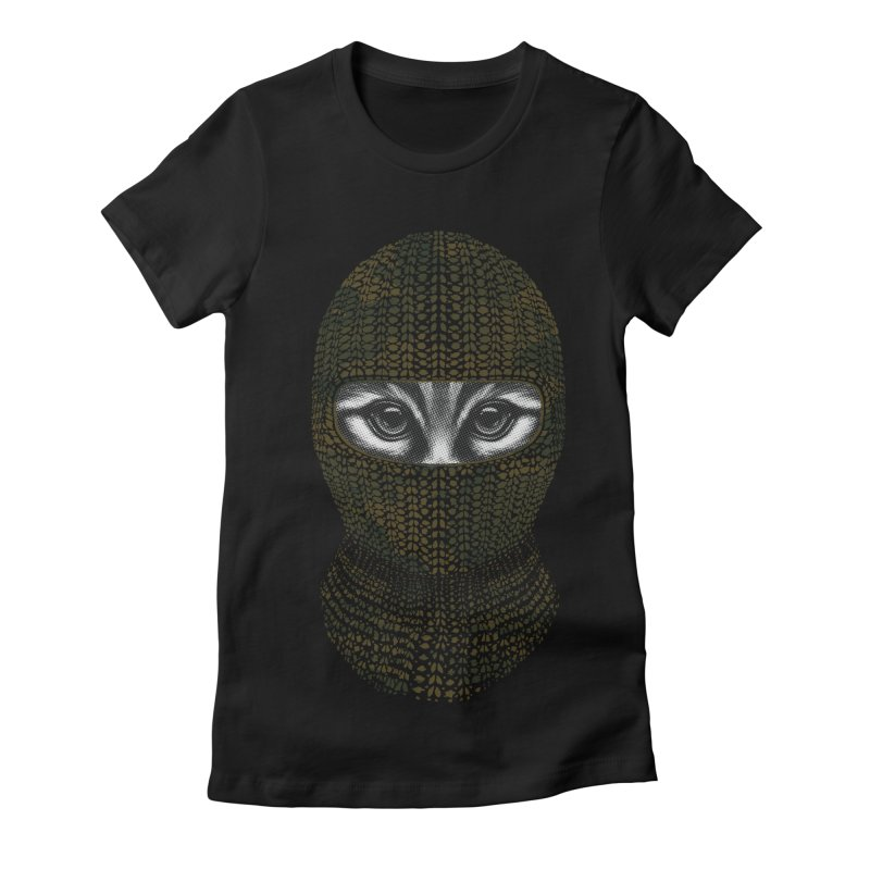 9 Lives Ninja Women's Fitted T-Shirt by mitchdosdos's Shop