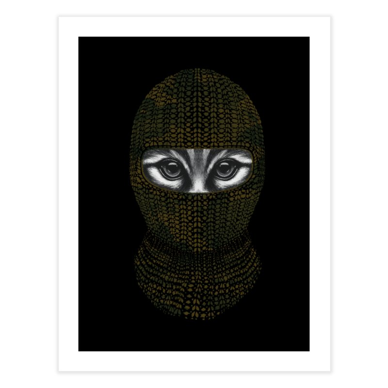 9 Lives Ninja Home Fine Art Print by mitchdosdos's Shop
