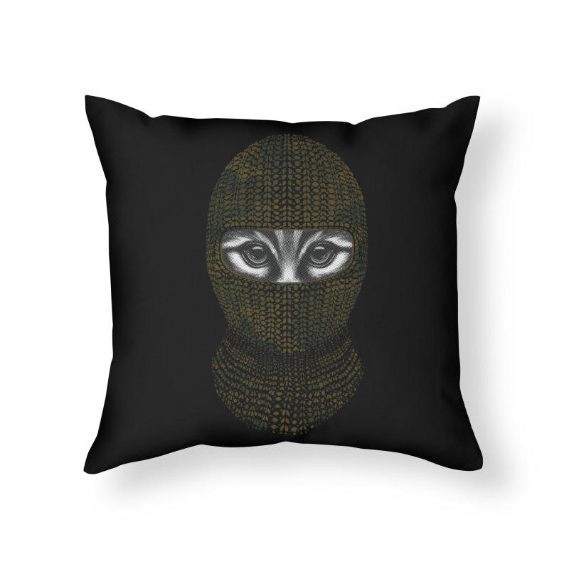 9 Lives Ninja Home Throw Pillow by mitchdosdos's Shop