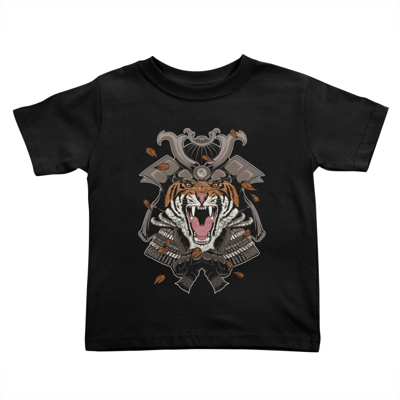 Raging Samurai Kids Toddler T-Shirt by mitchdosdos's Shop