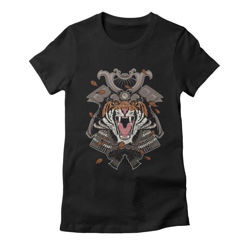 Raging Samurai Women's Fitted T-Shirt by mitchdosdos's Shop