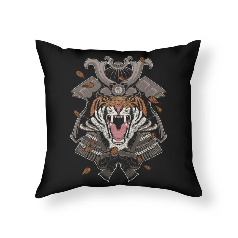 Raging Samurai Home Throw Pillow by mitchdosdos's Shop