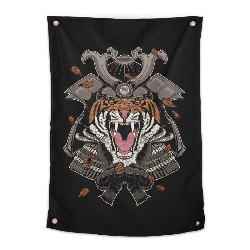 Raging Samurai Home Tapestry by mitchdosdos's Shop
