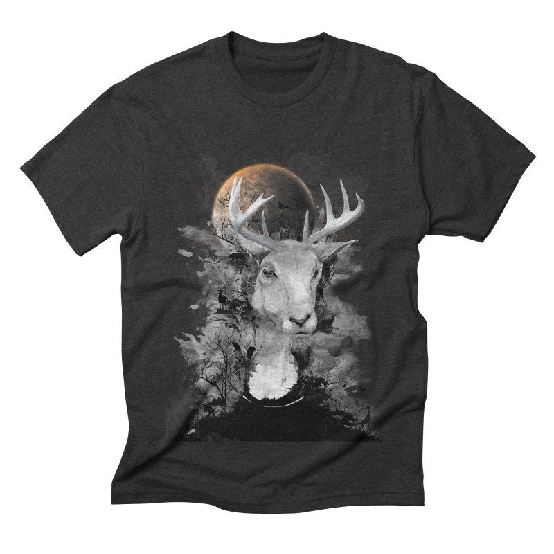 Wild Mona Lisa Men's Triblend T-shirt by mitchdosdos's Shop