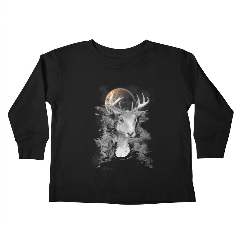 Wild Mona Lisa Kids Toddler Longsleeve T-Shirt by mitchdosdos's Shop