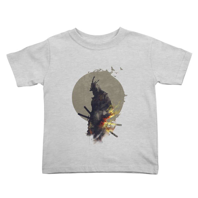 Blazing Samurai Kids Toddler T-Shirt by mitchdosdos's Shop