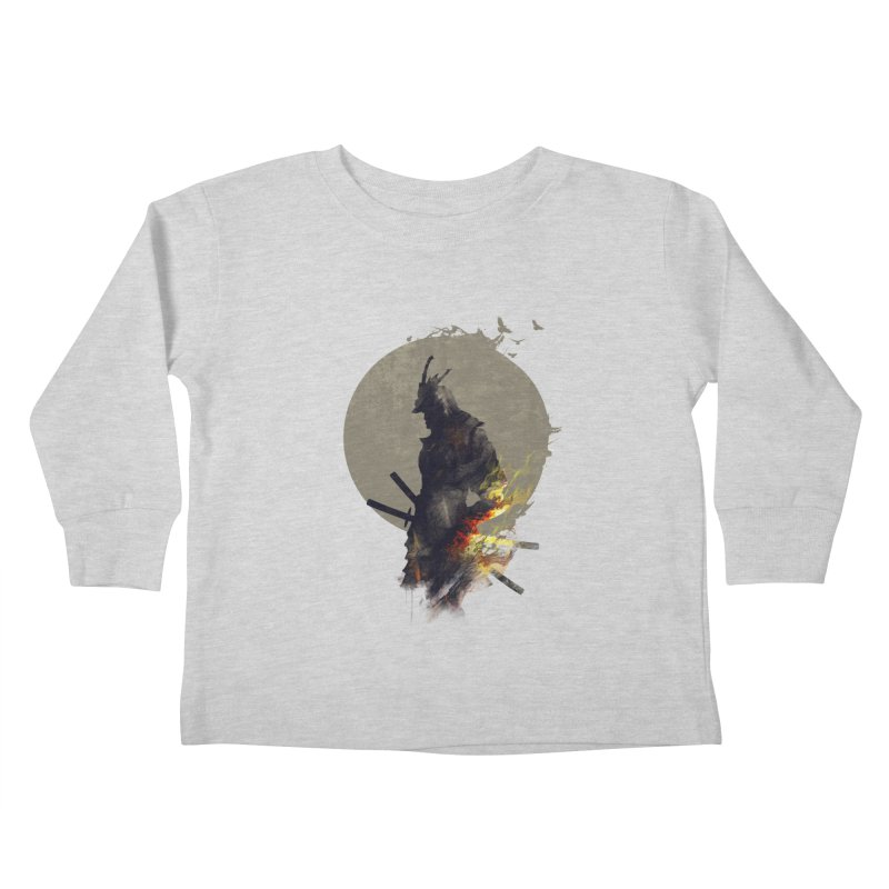 Blazing Samurai Kids Toddler Longsleeve T-Shirt by mitchdosdos's Shop