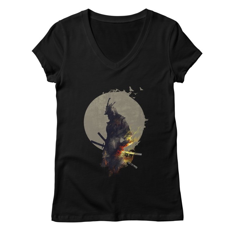 Blazing Samurai Women's V-Neck by mitchdosdos's Shop