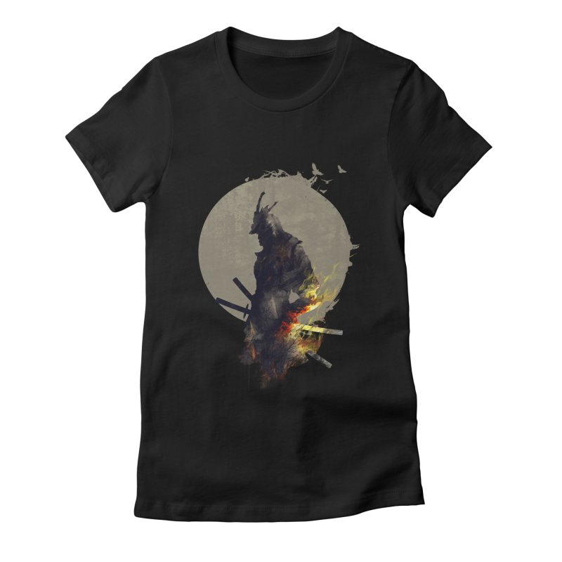 Blazing Samurai Women's Fitted T-Shirt by mitchdosdos's Shop