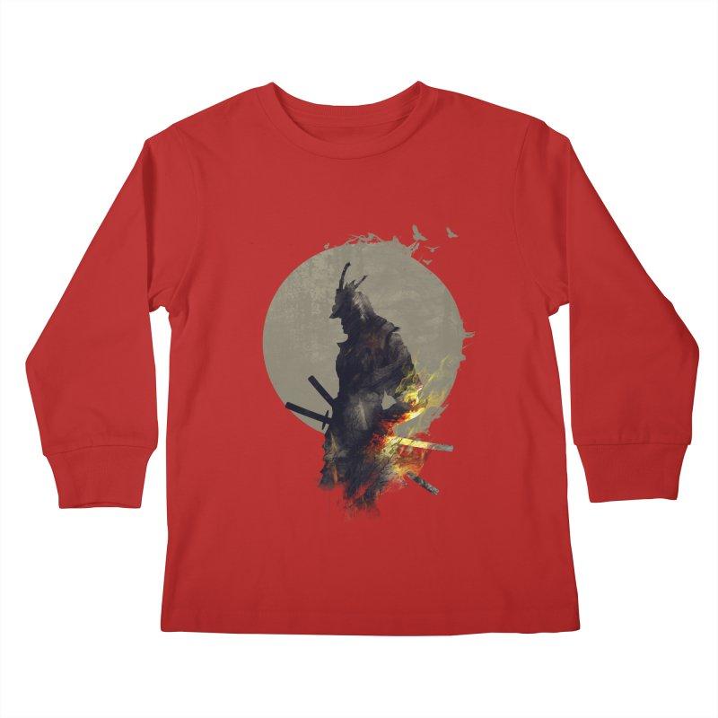 Blazing Samurai Kids Longsleeve T-Shirt by mitchdosdos's Shop