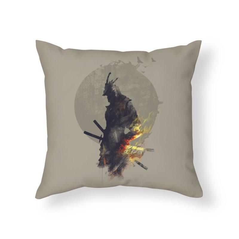 Blazing Samurai Home Throw Pillow by mitchdosdos's Shop
