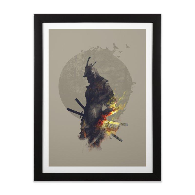 Blazing Samurai Home Framed Fine Art Print by mitchdosdos's Shop