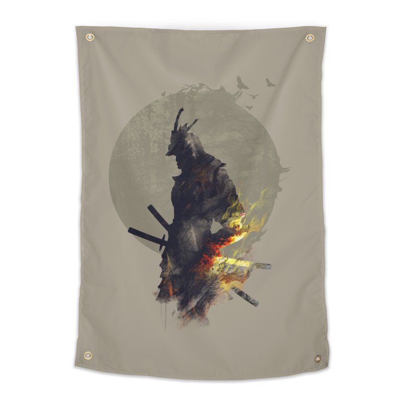 Blazing Samurai Home Tapestry by mitchdosdos's Shop