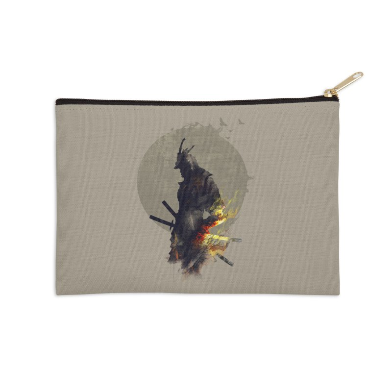 Blazing Samurai Accessories Zip Pouch by mitchdosdos's Shop