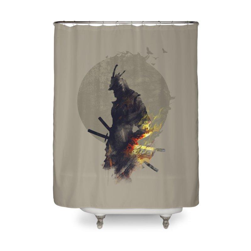 Blazing Samurai Home Shower Curtain by mitchdosdos's Shop
