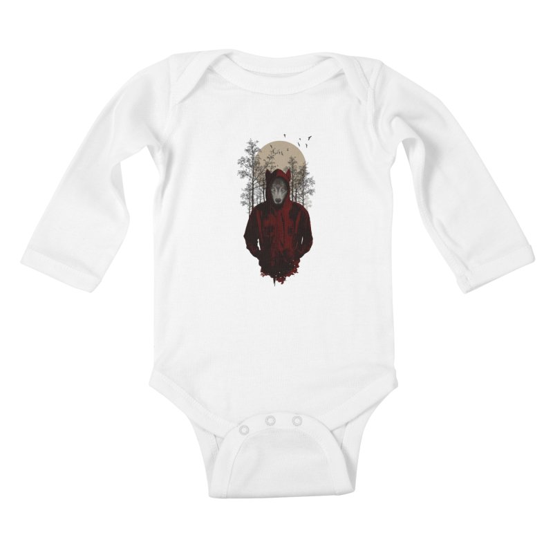 Red Hood Kids Baby Longsleeve Bodysuit by mitchdosdos's Shop