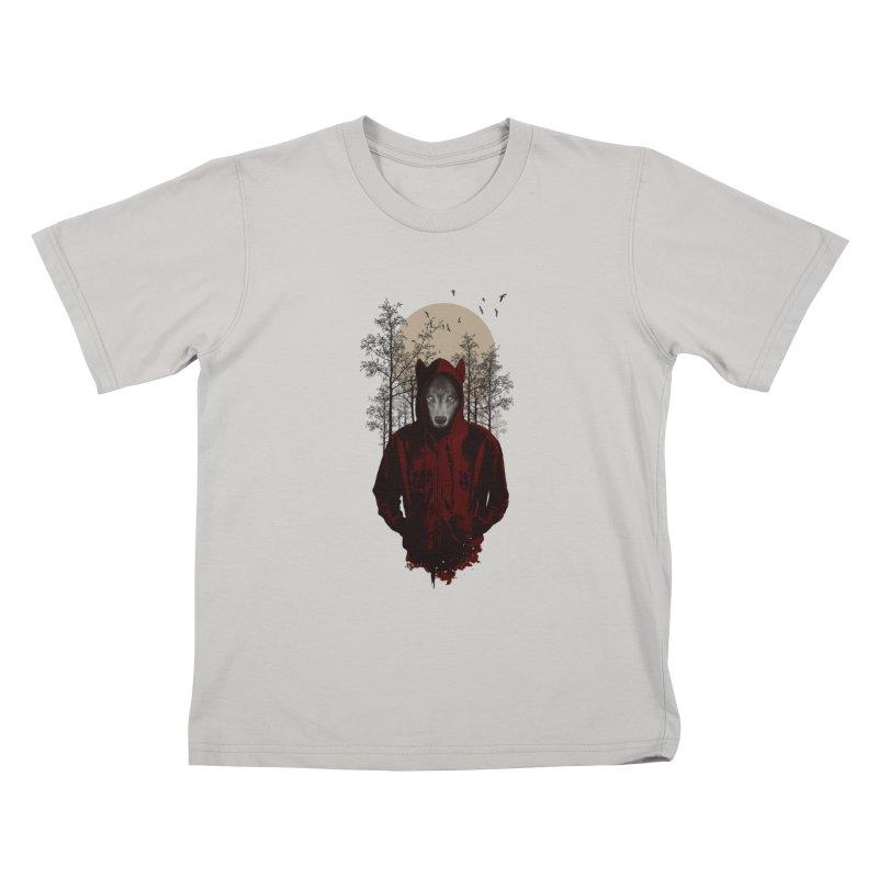 Red Hood Kids T-shirt by mitchdosdos's Shop