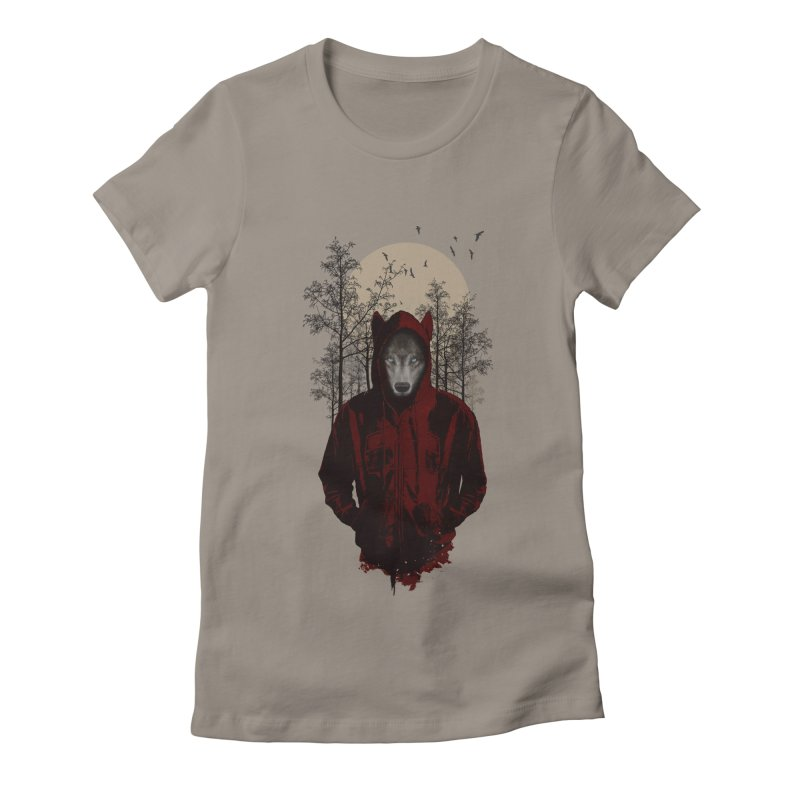 Red Hood Women's Fitted T-Shirt by mitchdosdos's Shop