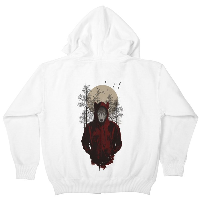 Red Hood Kids Zip-Up Hoody by mitchdosdos's Shop