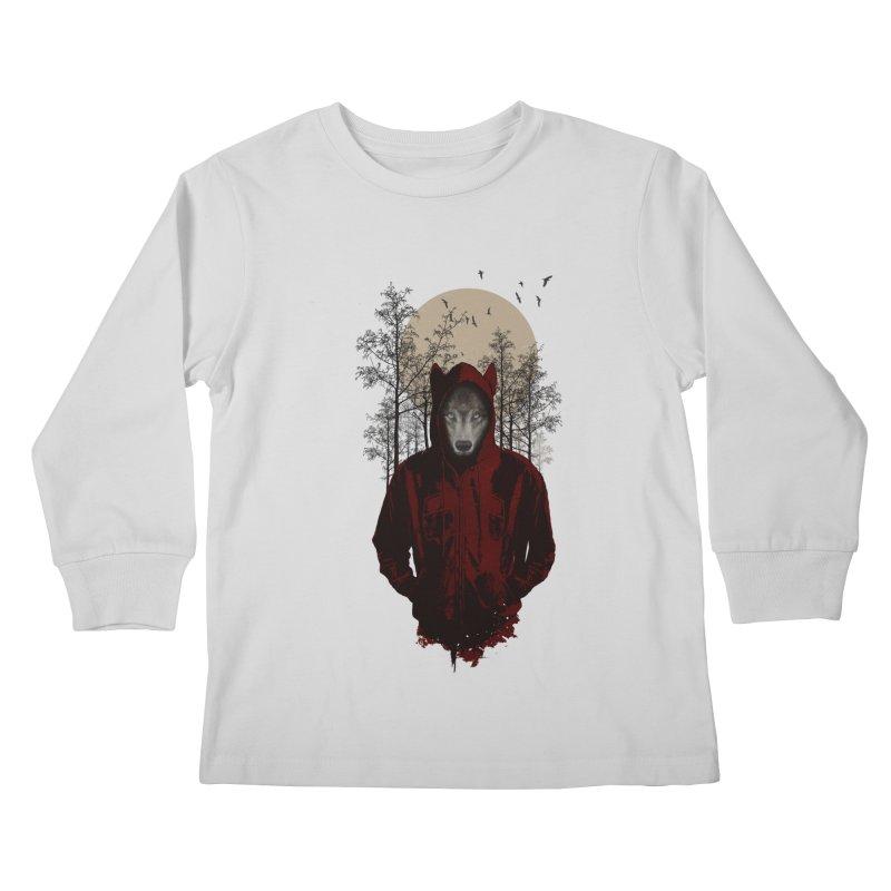Red Hood Kids Longsleeve T-Shirt by mitchdosdos's Shop