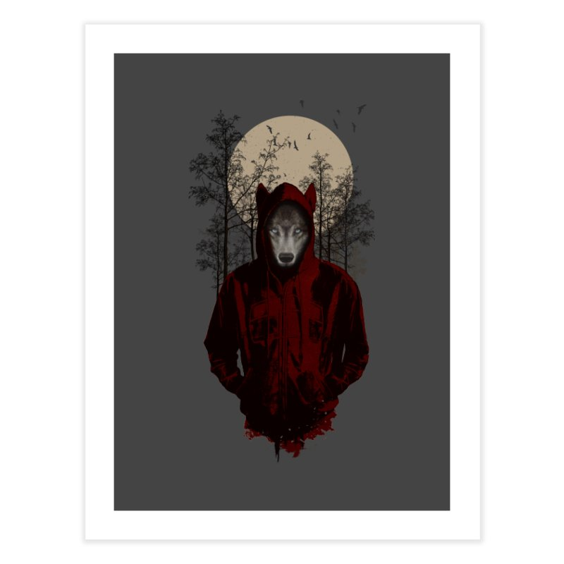 Red Hood Home Fine Art Print by mitchdosdos's Shop